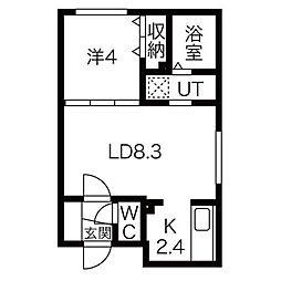 アルーアKOTONI[2階]の間取り