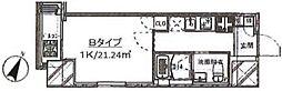 東京メトロ有楽町線 江戸川橋駅 徒歩4分の賃貸マンション 7階1Kの間取り