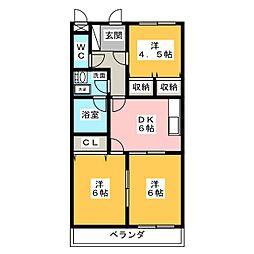 アクトロイヤルメゾン菅田[2階]の間取り