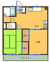 レオナマンション[202号室]の間取り