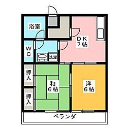 加藤ハイツ[5階]の間取り