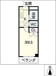 安田学研会館 中棟1[1階]の間取り