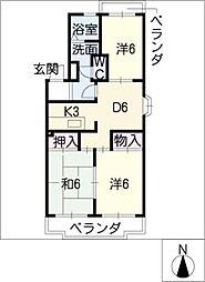 リンデンハイム[1階]の間取り