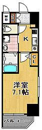 スプランディッド大阪WEST[7階]の間取り