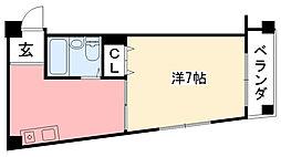 モナムール甲子園[201号室]の間取り