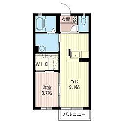 パレットN B[2階]の間取り