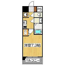 アスヴェル京都壬生WEST203[2階]の間取り