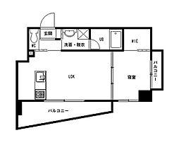 西鉄天神大牟田線 高宮駅 徒歩4分の賃貸マンション 5階1LDKの間取り