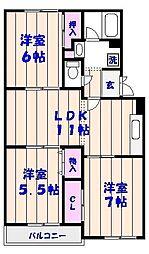 KS・グランメール汐見台[102号室]の間取り