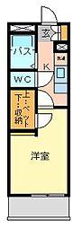 レオパレス片野N[3階]の間取り