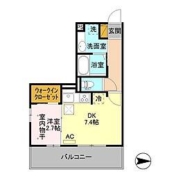 長野電鉄長野線 本郷駅 徒歩7分の賃貸アパート 1階1DKの間取り