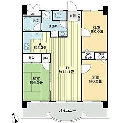 ライオンズマンション・MAXIM櫛原[2階]の間取り