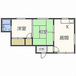 カネヤハイツ2[2階]の間取り