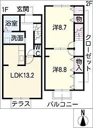 [タウンハウス] 愛知県長久手市岩作蛇洞 の賃貸【/】の間取り