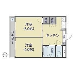 シャルマン谷塚駅前[305号室]の間取り