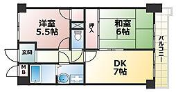 モンテメール六甲[2階]の間取り