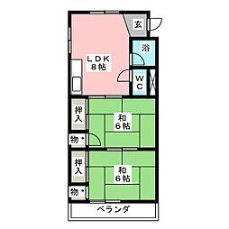 野村ビル[6階]の間取り
