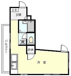 ポートマンション大口壱番館[402号室]の間取り