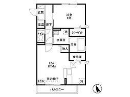 新潟県上越市下源入の賃貸アパートの間取り