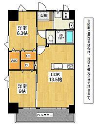 メディプラカーサ[13階]の間取り