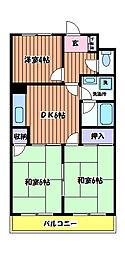 すずかけハイツ[2階]の間取り