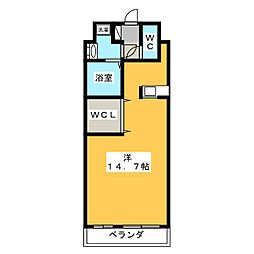 壱番館元今泉[5階]の間取り