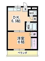 第2神田マンション[102号室]の間取り