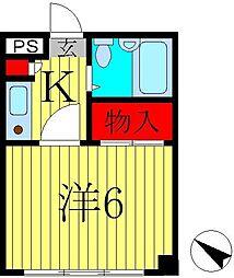 オークヒル・ハヤマ[3階]の間取り