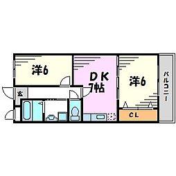 タウンコート立花[3階]の間取り