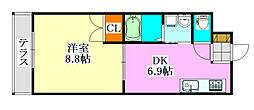 大福マンション薬円台[106号室]の間取り