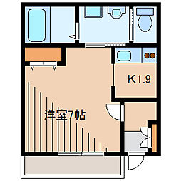 モアナ レア七里ガ浜[1階]の間取り