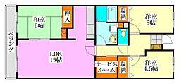サンシティ津田沼[201号室]の間取り