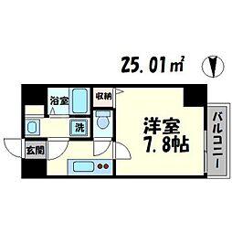 TOYOTOMI STAY PREMIUM 梅田III 5階1Kの間取り