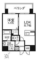 Modern Palazzo天神南リーフ 10階1LDKの間取り