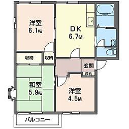 ドミール宮下B館[2階]の間取り