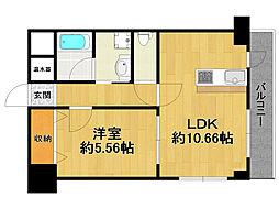 伊丹中央マンション[1階]の間取り