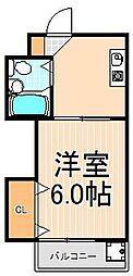 ヴィレッジ東和[305号室]の間取り