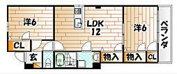 立花ビル[2階]の間取り