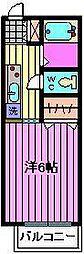 埼玉県さいたま市中央区本町東6丁目の賃貸アパートの間取り