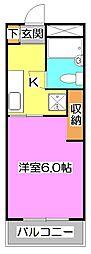 埼玉県所沢市大字上安松の賃貸マンションの間取り