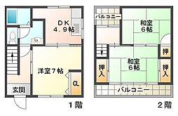[一戸建] 兵庫県神戸市垂水区城が山5丁目 の賃貸【/】の間取り