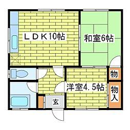 マンション豊岡[2階]の間取り