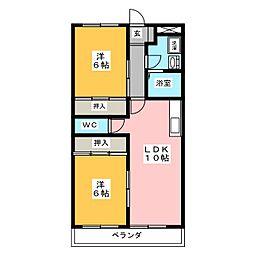 メゾンロイヤルコート[3階]の間取り