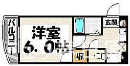 福岡県大野城市錦町1丁目の賃貸マンションの間取り