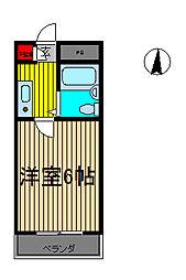 前川ヒルズ[3階]の間取り