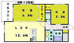 プレステージ福津B[1階]の間取り
