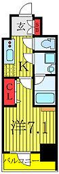 KDXレジデンス池袋ウエスト 8階1Kの間取り