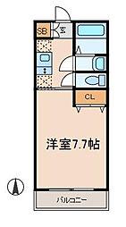 セントラルハイツNAKADA[3階]の間取り