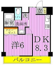 プロフィットリンク竹ノ塚[6階]の間取り