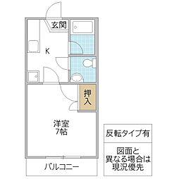 オリーブハウス A[212号室号室]の間取り